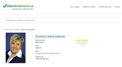 Hodnocení realitního makléře, zdroj: dobrehodnoceni.cz